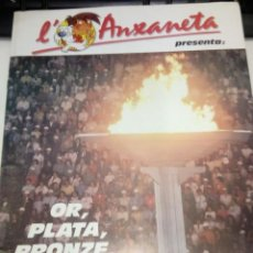Coleccionismo deportivo: ALBUM DE CROMOS COMPLET - L' ANXANETA PRESENTA OR, PLATA, BRONZE - CAIXA DE CATALUNYA 1988. Lote 183801632
