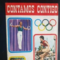 Coleccionismo deportivo: ÁLBUM CROMOS PRÁCTICAMENTE NUEVO CHOCOLATES LA CIBELES CONTAMOS CONTIGO 1968 70% COMPLETO ORIGINAL. Lote 185252728