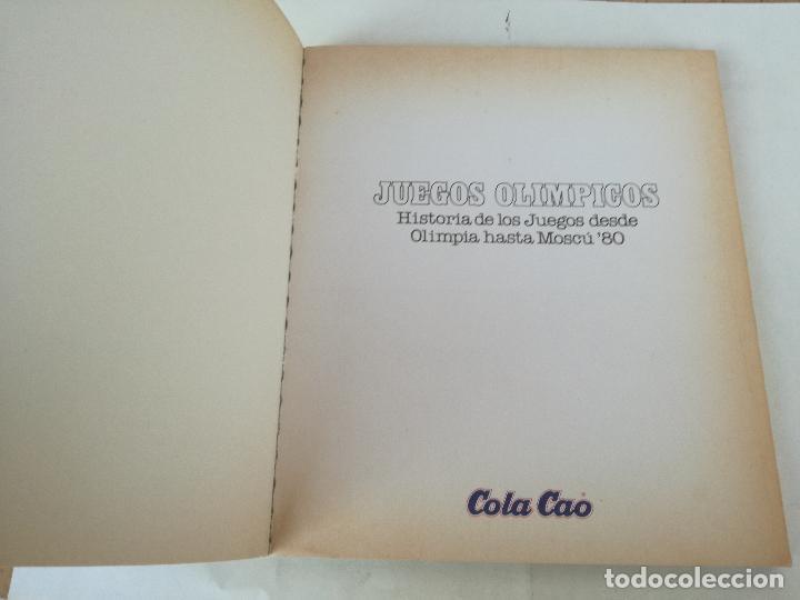 Coleccionismo deportivo: Album de CROMOS JUEGOS OLÍMPICOS MOSCÚ 80 1980 COLA-CAO nutrexpa - vacio - Foto 3 - 185279146