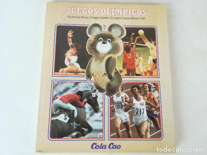 ALBUM DE CROMOS JUEGOS OLÍMPICOS MOSCÚ 80 1980 COLA-CAO NUTREXPA - VACIO (Coleccionismo Deportivo - Álbumes otros Deportes)