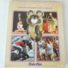 Coleccionismo deportivo: ALBUM DE CROMOS JUEGOS OLÍMPICOS MOSCÚ 80 1980 COLA-CAO NUTREXPA - VACIO. Lote 185279146
