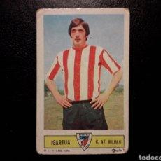 Coleccionismo deportivo: IGARTUA ATHLETIC DE BILBAO. ESTE 1973-1974 73-74. SIN PEGAR. VER FOTOS DE FRONTAL Y TRASERA. Lote 189375701