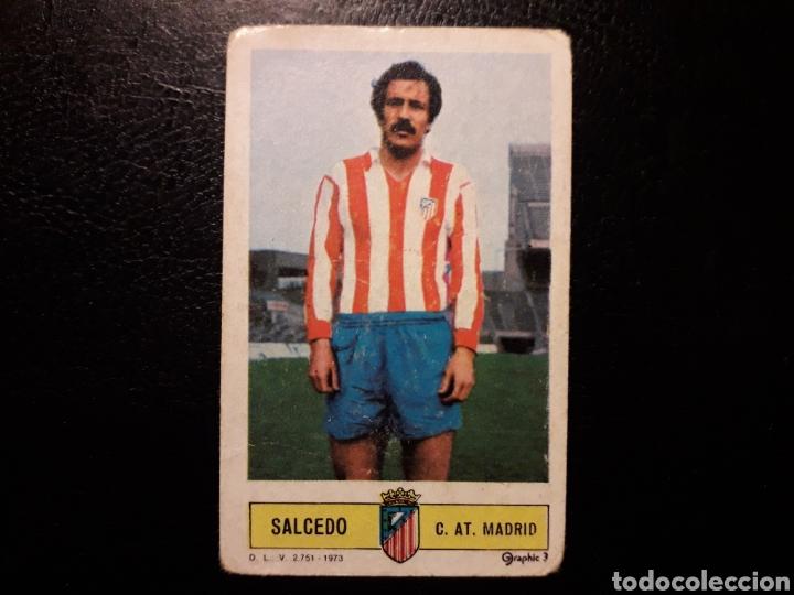 SALCEDO AT DE MADRID. ESTE 1973-1974 73-74. SIN PEGAR. VER FOTOS DE FRONTAL Y TRASERA (Coleccionismo Deportivo - Álbumes otros Deportes)