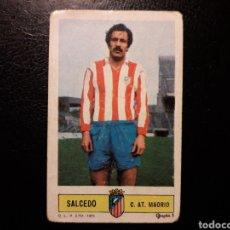 Coleccionismo deportivo: SALCEDO AT DE MADRID. ESTE 1973-1974 73-74. SIN PEGAR. VER FOTOS DE FRONTAL Y TRASERA. Lote 189386995