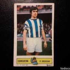 Coleccionismo deportivo: CORCUERA REAL SOCIEDAD. ESTE 1973-1974 73-74. ADHERENCIA EL FRONTAL. SIN PEGAR. VER FOTOS. Lote 189388438