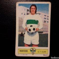 Coleccionismo deportivo: MONTERO ELCHE. ESTE 1973-1974 73-74. SIN PEGAR. VER FOTOS DE FRONTAL Y TRASERA. Lote 189461591