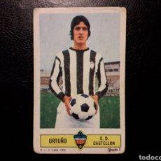 Coleccionismo deportivo: ORTUÑO CASTELLÓN. ESTE 1973-1974 73-74. SIN PEGAR. VER FOTOS DE FRONTAL Y TRASERA. Lote 189511110