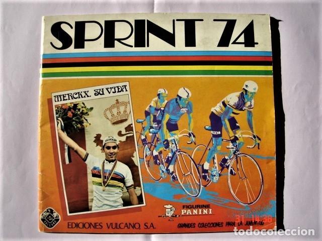 ÁLBUM SPRINT 74 INCOMPLETO DE EDICIONES VULCANO-PANINI. AÑO 1974 (Coleccionismo Deportivo - Álbumes otros Deportes)