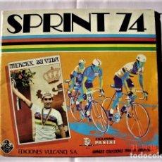 Coleccionismo deportivo: ÁLBUM SPRINT 74 INCOMPLETO DE EDICIONES VULCANO-PANINI. AÑO 1974. Lote 189634882