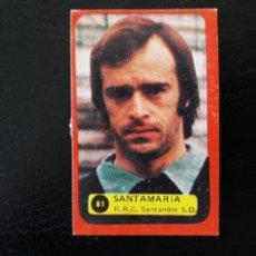 Coleccionismo deportivo: SANTAMARÍA RACING DE SANTANDER. N° 81 DESPEGADO. GRAFIMUR SOLANO. 1975-1976. 75-76. VER FOTOS. Lote 189672960