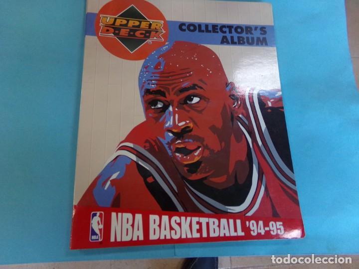ALBUM UPPER D.E.C.K. NBA BASKETBALL, 94-95. COMPLETO 219 CROMOS MAS LOS 6 FIRMADOS TOTAL 225 CROMOS (Coleccionismo Deportivo - Álbumes otros Deportes)