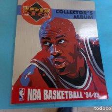 Coleccionismo deportivo: ALBUM UPPER D.E.C.K. NBA BASKETBALL, 94-95. COMPLETO 219 CROMOS MAS LOS 6 FIRMADOS TOTAL 225 CROMOS. Lote 189997572