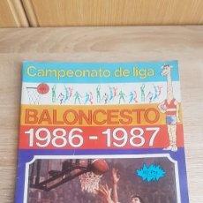 Collezionismo sportivo: BALONCESTO LIGA 1986-1987 ÁLBUM. Lote 195242797
