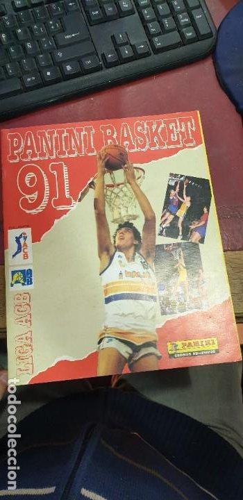 ALBUM PANINI BASKET 91 INCOMPLETO EN MUY BUEN ESTADO (Coleccionismo Deportivo - Álbumes otros Deportes)