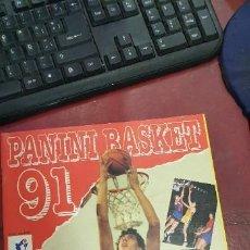 Coleccionismo deportivo: ALBUM PANINI BASKET 91 INCOMPLETO EN MUY BUEN ESTADO. Lote 205683635