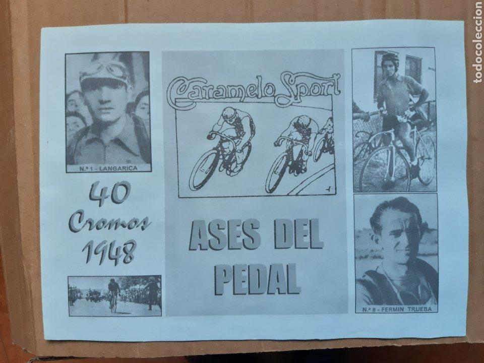 ALBUM CROMOS ASES DEL PEDAL AÑOS 40 CICLISMO (Coleccionismo Deportivo - Álbumes otros Deportes)