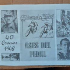 Coleccionismo deportivo: ALBUM CROMOS ASES DEL PEDAL AÑOS 40 CICLISMO. Lote 210600405
