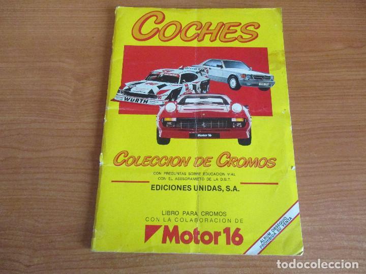 EDICIONES UNIDAS : ALBUM DE CROMOS DE COCHES , MOTOR 16 ( COMPLETO CON SUS 162 CROMOS ) (Coleccionismo Deportivo - Álbumes otros Deportes)