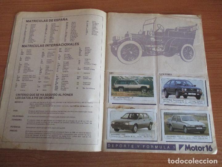 Coleccionismo deportivo: EDICIONES UNIDAS : ALBUM DE CROMOS DE COCHES , MOTOR 16 ( COMPLETO CON SUS 162 CROMOS ) - Foto 2 - 195652677