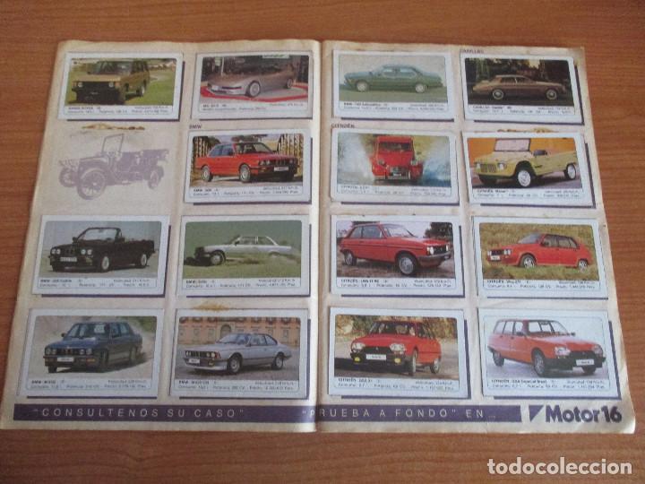 Coleccionismo deportivo: EDICIONES UNIDAS : ALBUM DE CROMOS DE COCHES , MOTOR 16 ( COMPLETO CON SUS 162 CROMOS ) - Foto 4 - 195652677