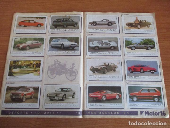 Coleccionismo deportivo: EDICIONES UNIDAS : ALBUM DE CROMOS DE COCHES , MOTOR 16 ( COMPLETO CON SUS 162 CROMOS ) - Foto 5 - 195652677