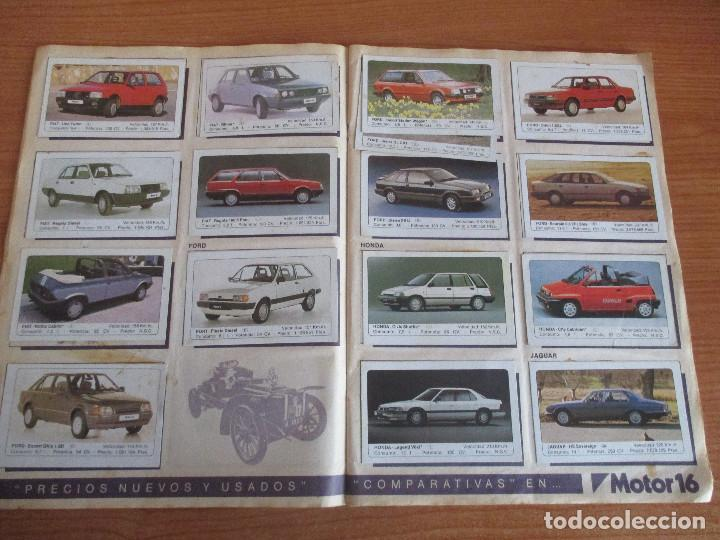 Coleccionismo deportivo: EDICIONES UNIDAS : ALBUM DE CROMOS DE COCHES , MOTOR 16 ( COMPLETO CON SUS 162 CROMOS ) - Foto 6 - 195652677
