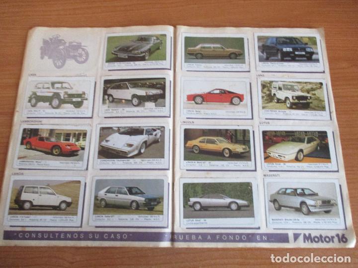 Coleccionismo deportivo: EDICIONES UNIDAS : ALBUM DE CROMOS DE COCHES , MOTOR 16 ( COMPLETO CON SUS 162 CROMOS ) - Foto 7 - 195652677