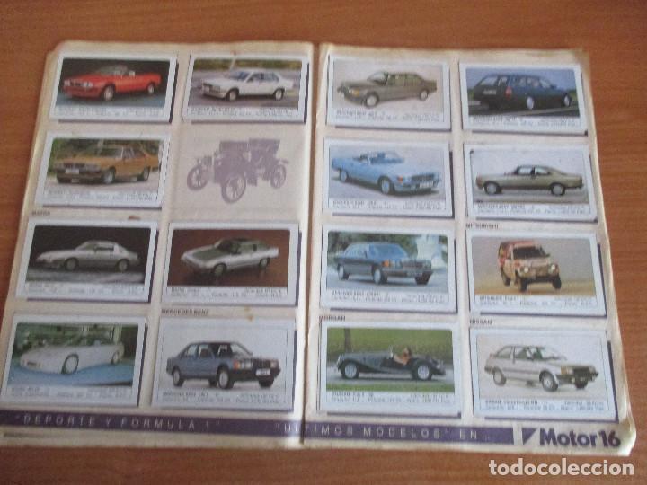 Coleccionismo deportivo: EDICIONES UNIDAS : ALBUM DE CROMOS DE COCHES , MOTOR 16 ( COMPLETO CON SUS 162 CROMOS ) - Foto 8 - 195652677