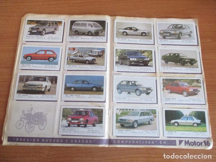 Coleccionismo deportivo: EDICIONES UNIDAS : ALBUM DE CROMOS DE COCHES , MOTOR 16 ( COMPLETO CON SUS 162 CROMOS ) - Foto 9 - 195652677