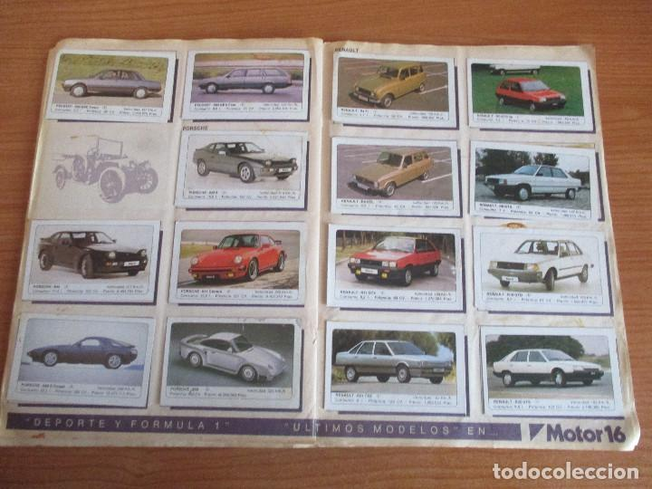 Coleccionismo deportivo: EDICIONES UNIDAS : ALBUM DE CROMOS DE COCHES , MOTOR 16 ( COMPLETO CON SUS 162 CROMOS ) - Foto 10 - 195652677