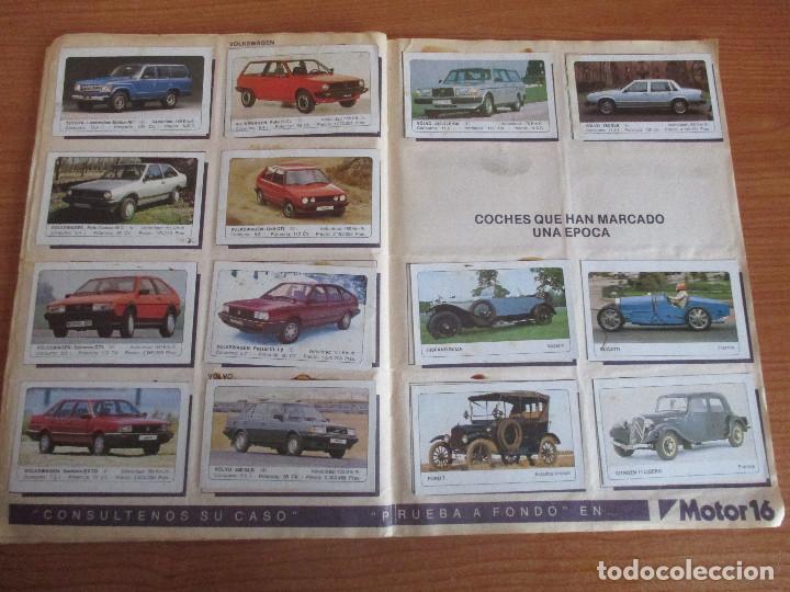 Coleccionismo deportivo: EDICIONES UNIDAS : ALBUM DE CROMOS DE COCHES , MOTOR 16 ( COMPLETO CON SUS 162 CROMOS ) - Foto 12 - 195652677