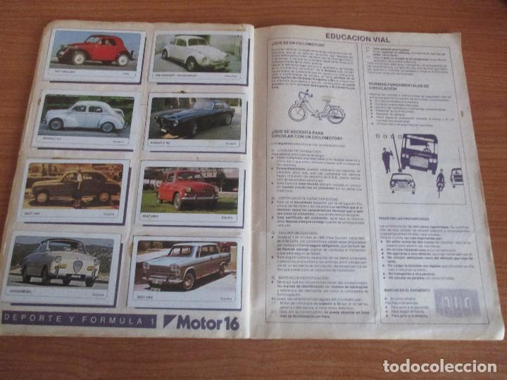 Coleccionismo deportivo: EDICIONES UNIDAS : ALBUM DE CROMOS DE COCHES , MOTOR 16 ( COMPLETO CON SUS 162 CROMOS ) - Foto 13 - 195652677