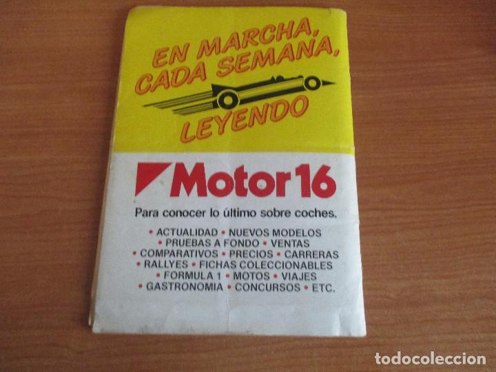 Coleccionismo deportivo: EDICIONES UNIDAS : ALBUM DE CROMOS DE COCHES , MOTOR 16 ( COMPLETO CON SUS 162 CROMOS ) - Foto 18 - 195652677