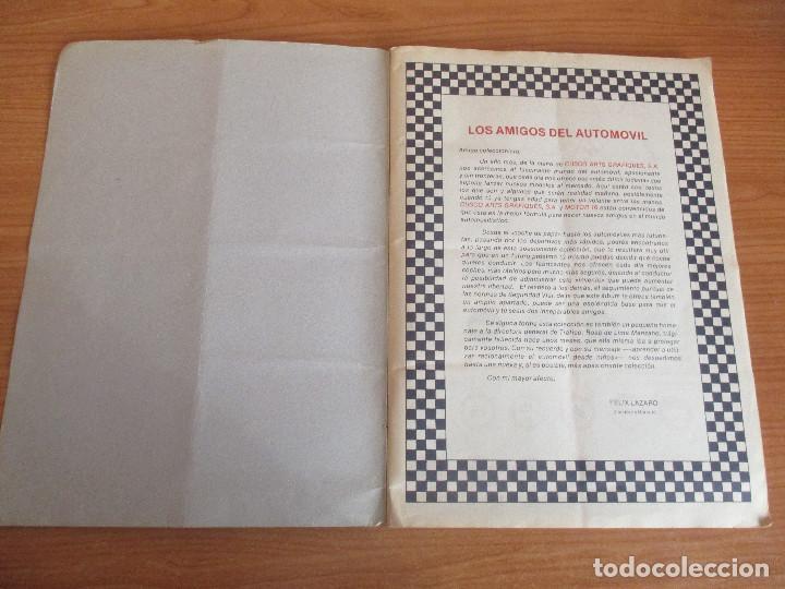 Coleccionismo deportivo: CUSCO ARTS GRAFIQUES: ALBUM DE CROMOS DE COCHES: COCHES COLECCION DE CROMOS ( COMPLETO) MOTOR 16 - Foto 2 - 195653476