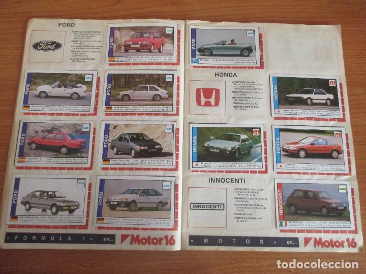 Coleccionismo deportivo: CUSCO ARTS GRAFIQUES: ALBUM DE CROMOS DE COCHES: COCHES COLECCION DE CROMOS ( COMPLETO) MOTOR 16 - Foto 8 - 195653476