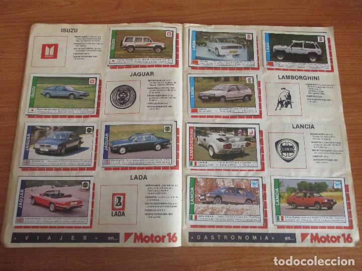 Coleccionismo deportivo: CUSCO ARTS GRAFIQUES: ALBUM DE CROMOS DE COCHES: COCHES COLECCION DE CROMOS ( COMPLETO) MOTOR 16 - Foto 9 - 195653476