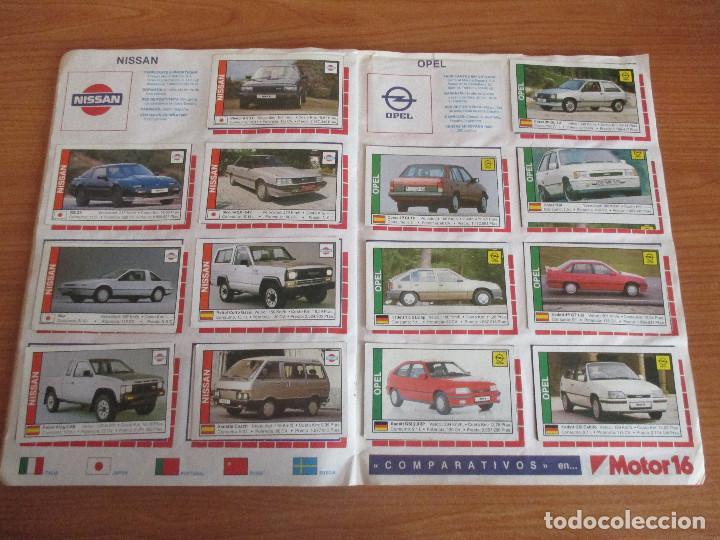 Coleccionismo deportivo: CUSCO ARTS GRAFIQUES: ALBUM DE CROMOS DE COCHES: COCHES COLECCION DE CROMOS ( COMPLETO) MOTOR 16 - Foto 13 - 195653476