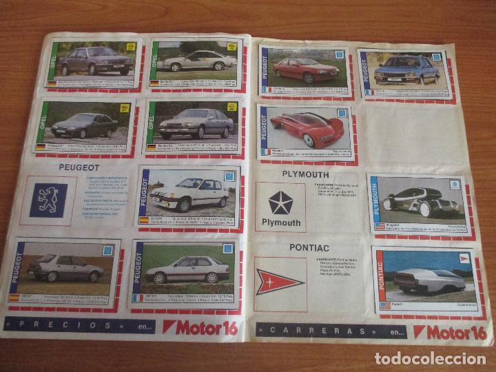 Coleccionismo deportivo: CUSCO ARTS GRAFIQUES: ALBUM DE CROMOS DE COCHES: COCHES COLECCION DE CROMOS ( COMPLETO) MOTOR 16 - Foto 14 - 195653476