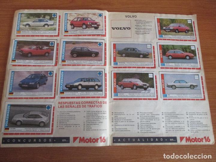 Coleccionismo deportivo: CUSCO ARTS GRAFIQUES: ALBUM DE CROMOS DE COCHES: COCHES COLECCION DE CROMOS ( COMPLETO) MOTOR 16 - Foto 18 - 195653476