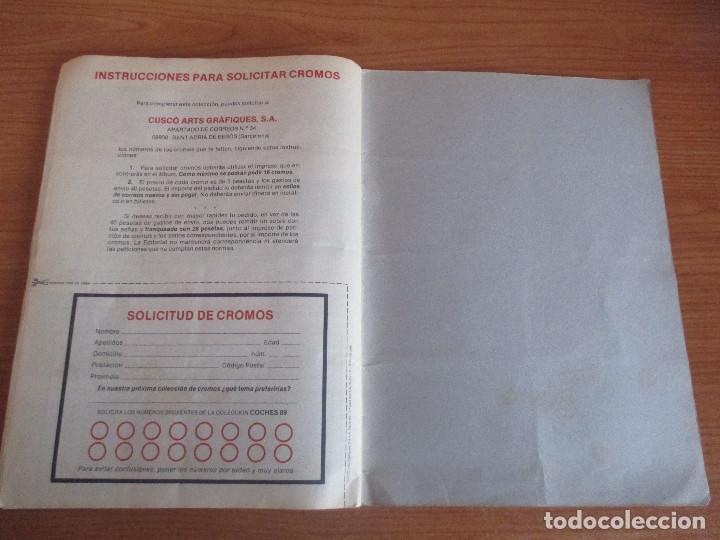 Coleccionismo deportivo: CUSCO ARTS GRAFIQUES: ALBUM DE CROMOS DE COCHES: COCHES COLECCION DE CROMOS ( COMPLETO) MOTOR 16 - Foto 22 - 195653476
