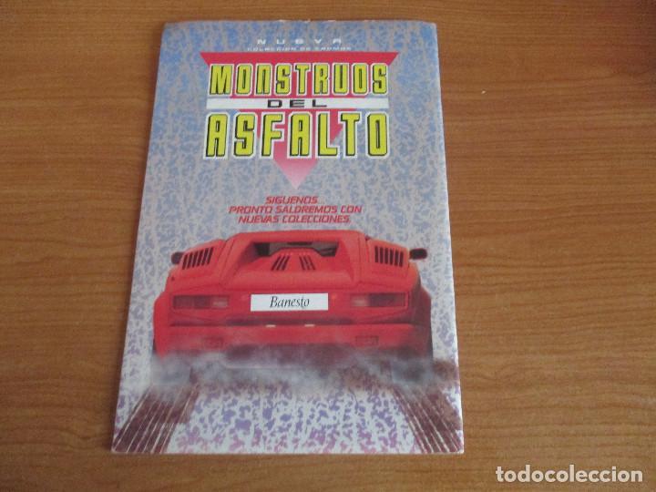 Coleccionismo deportivo: MOTOR 16: ALBUM DE CROMOS DE COCHES: MONSTRUOS DEL ASFALTO ( BANESTO) VACIO SIN CROMOS - Foto 2 - 195653845