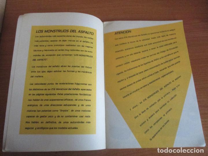 Coleccionismo deportivo: MOTOR 16: ALBUM DE CROMOS DE COCHES: MONSTRUOS DEL ASFALTO ( BANESTO) VACIO SIN CROMOS - Foto 5 - 195653845