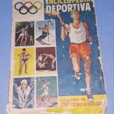 Coleccionismo deportivo: ALBUM DE CROMOS ENCICLOPEDIA DEPORTIVA DE BRUGUERA AÑO 1963. Lote 196197193