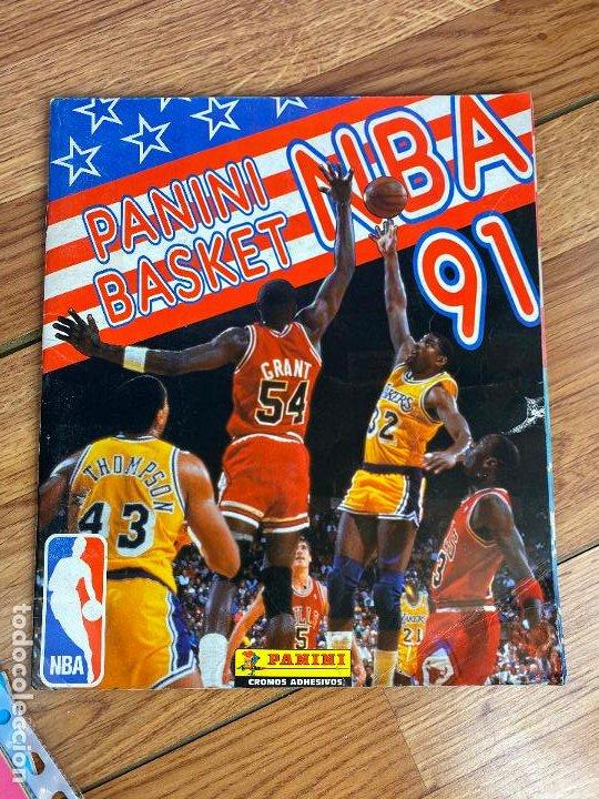 ALBUM COMPLETO - PANINI BASKET NBA 91 , COMPLETO , POCAS SEÑALES DE USO (Coleccionismo Deportivo - Álbumes otros Deportes)