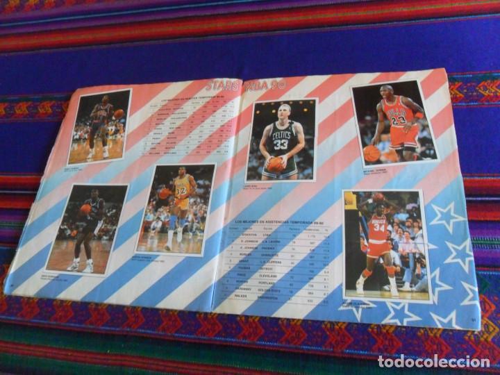 Coleccionismo deportivo: CON 2 CROMOS DE MICHAEL JORDAN, PANINI BASKET NBA 91 COMPLETO. PANINI 1991. DIFÍCIL. - Foto 2 - 197114661