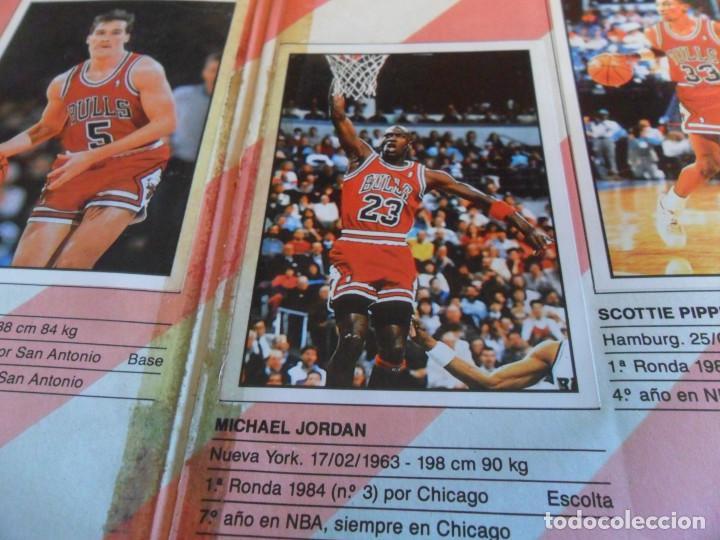 Coleccionismo deportivo: CON 2 CROMOS DE MICHAEL JORDAN, PANINI BASKET NBA 91 COMPLETO. PANINI 1991. DIFÍCIL. - Foto 3 - 197114661
