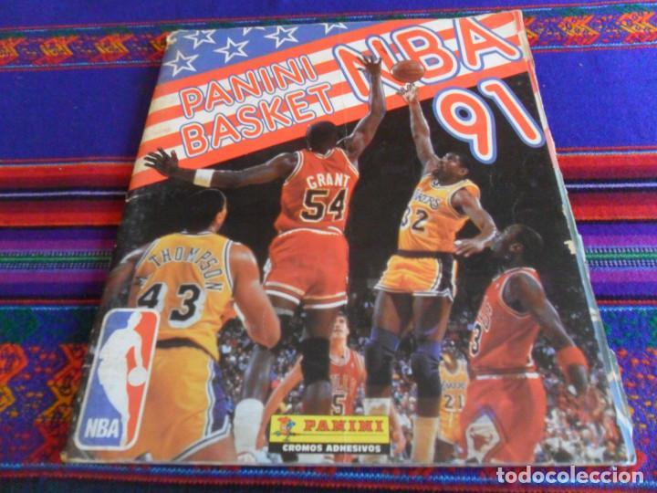 Coleccionismo deportivo: CON 2 CROMOS DE MICHAEL JORDAN, PANINI BASKET NBA 91 COMPLETO. PANINI 1991. DIFÍCIL. - Foto 5 - 197114661