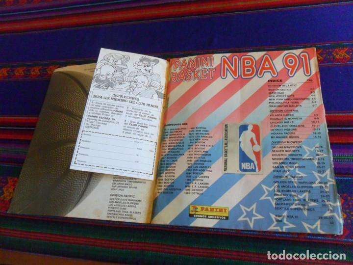 Coleccionismo deportivo: CON 2 CROMOS DE MICHAEL JORDAN, PANINI BASKET NBA 91 COMPLETO. PANINI 1991. DIFÍCIL. - Foto 6 - 197114661