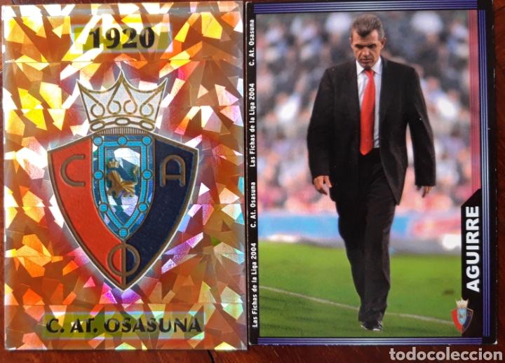 CROMO ESCUDO Y AGURRE C.A OSASUNA (Coleccionismo Deportivo - Álbumes otros Deportes)