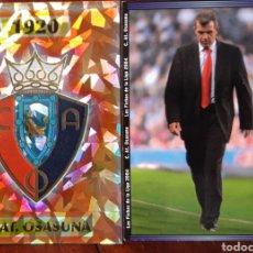 Coleccionismo deportivo: CROMO ESCUDO Y AGURRE C.A OSASUNA. Lote 198197018